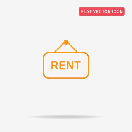 room to let: Rent icon. Vector concept illustration for design. Illustration