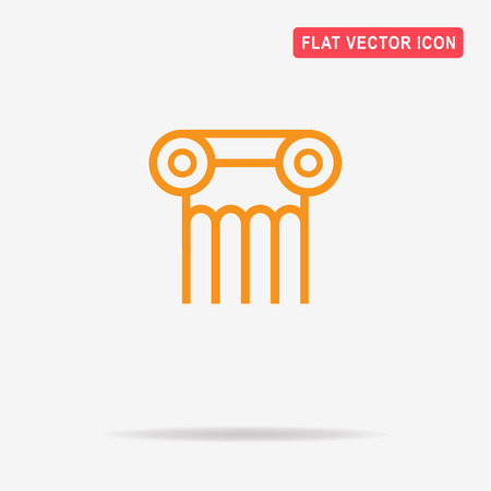 Column icon. Vector concept illustration for design.