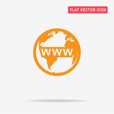 webhost: Www icon. Vector concept illustration for design.