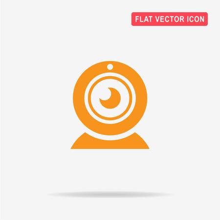 Web camera icon. Vector concept illustration for design.