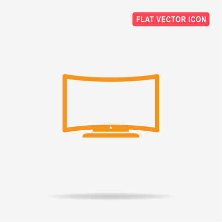 flat screen: Tv icon. Vector concept illustration for design.