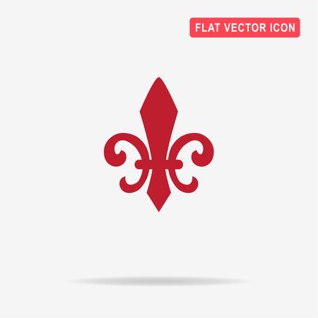 lys: Fleur de lis icon. Vector concept illustration for design.