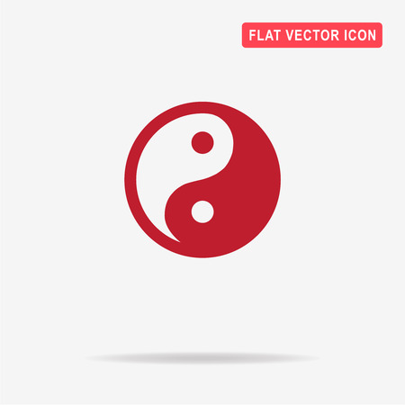 symbolics: Yin and yang icon. Vector concept illustration for design. Illustration
