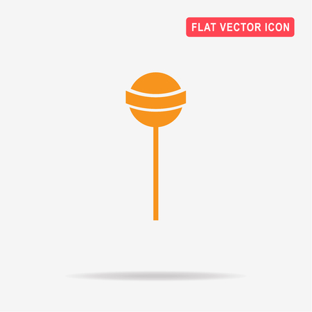 sucking: Lollipop icon. Vector concept illustration for design. Illustration