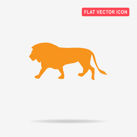 Lion icon. Vector concept illustration for design.