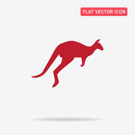 Kangaroo icon. Vector concept illustration for design.