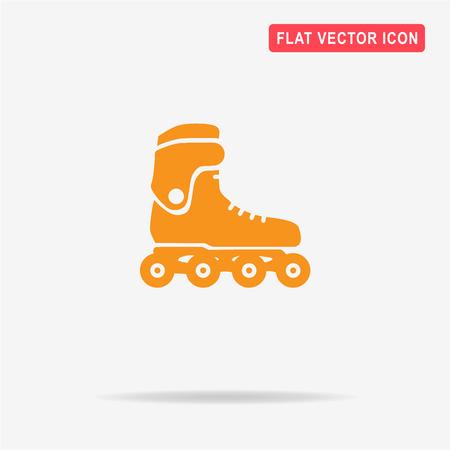 inline skating: Roller skates icon. Vector concept illustration for design.
