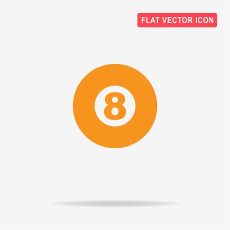 eightball: Billiard ball icon. Vector concept illustration for design.