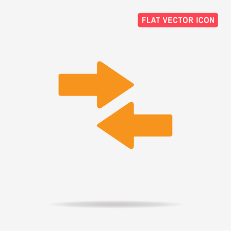flecha direccion: Arrow icon. Vector concept illustration for design.
