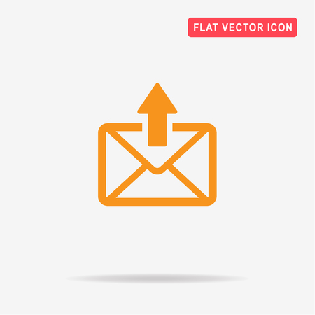 Envelope icon. Vector concept illustration for design.