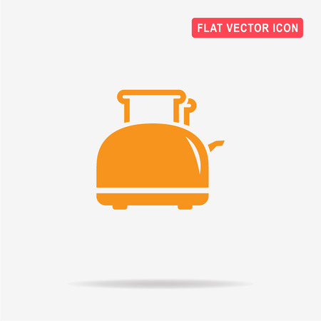Toaster icon. Vector concept illustration for design.