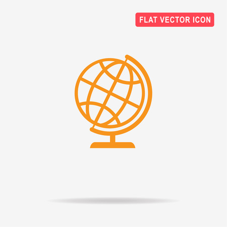 globe  the terrestrial ball: Geography earth globe icon. Vector concept illustration for design. Illustration