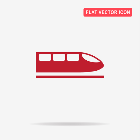 the hovercraft: High speed train icon.  Vector concept illustration for design.