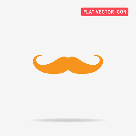 Mustache icon. Vector concept illustration for design.