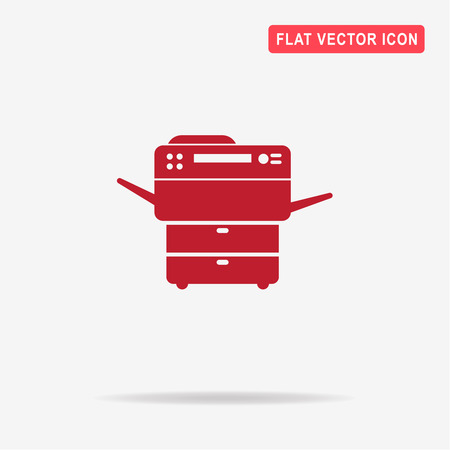 multifunction printer: Multifunction printer icon. Vector concept illustration for design.