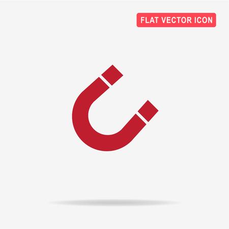 electromagnetism: Magnet icon. Vector concept illustration for design.