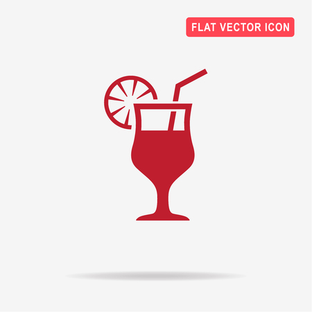 Cocktail icon. Vector concept illustration for design. Illustration