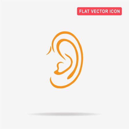 audible: Ear icon. Vector concept illustration for design. Illustration