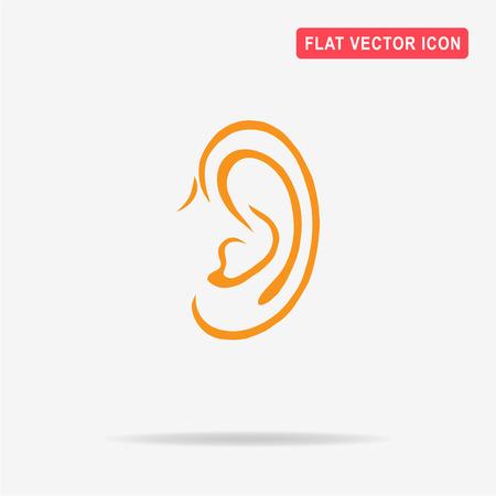 Ear icon. Vector concept illustration for design. Illustration