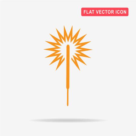 bengal light: Party sparkler icon. Vector concept illustration for design. Illustration