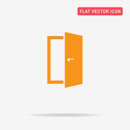 doorknob: Door icon. Vector concept illustration for design.