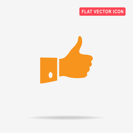 Thumb up icon. Vector concept illustration for design. Illustration
