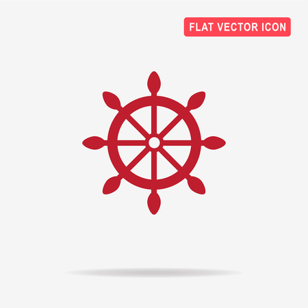 Rudder icon. Vector concept illustration for design. Illustration