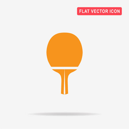 table tennis racket icon. Vector concept illustration for design.
