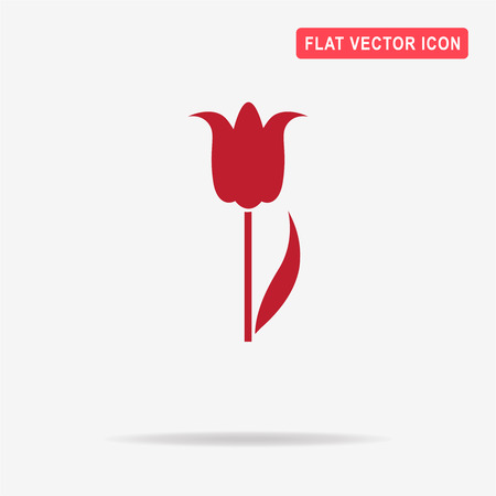 Tulip icon. Vector concept illustration for design.
