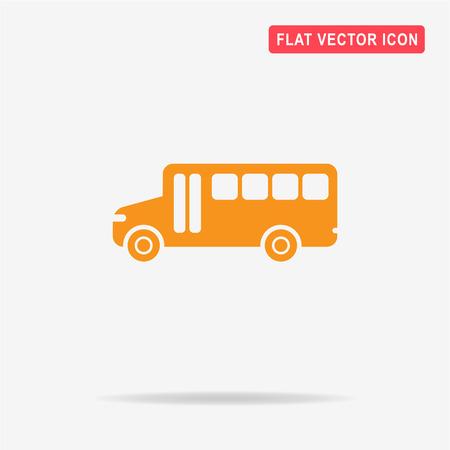 schoolbus: School-bus icon. Vector concept illustration for design.