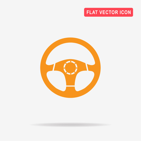 Steering wheel icon. Vector concept illustration for design. Illustration