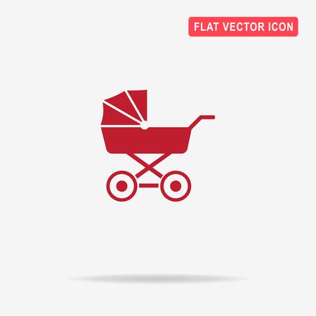 Pram icon. Vector concept illustration for design.