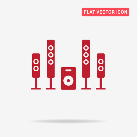 audiophile: Home theater icon. Vector concept illustration for design.