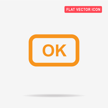 ok button: OK button icon. Vector concept illustration for design. Illustration