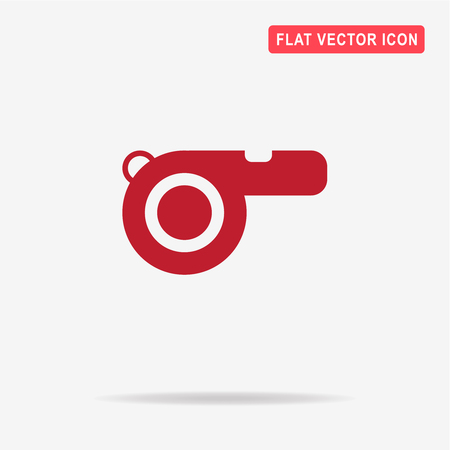 judge players: Whistle icon. Vector concept illustration for design. Illustration
