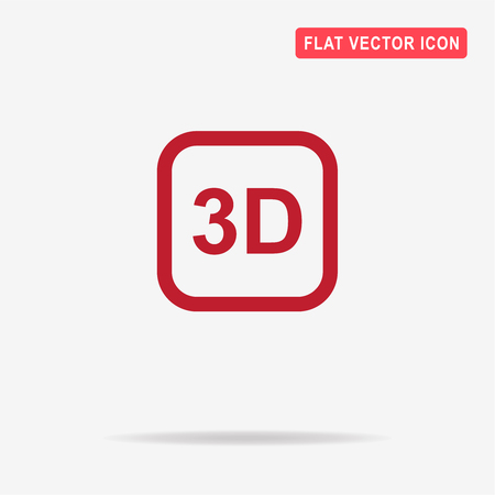 stereoscope: 3d icon. Vector concept illustration for design. Illustration