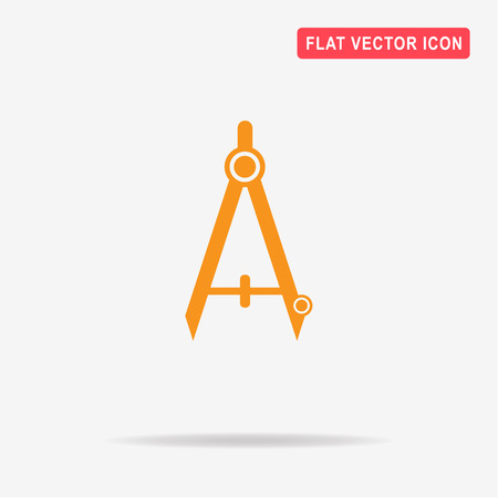 Stationery compasses icon. Vector concept illustration for design.