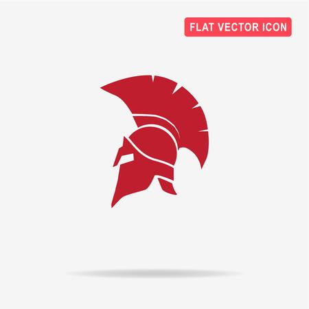 Helmet icon. Vector concept illustration for design.