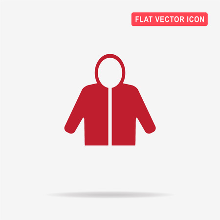 zipper hoodie: Hoodie icon. Vector concept illustration for design.