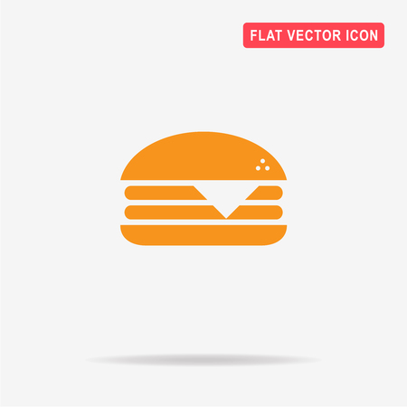 Cheeseburger icon. Vector concept illustration for design. Illustration