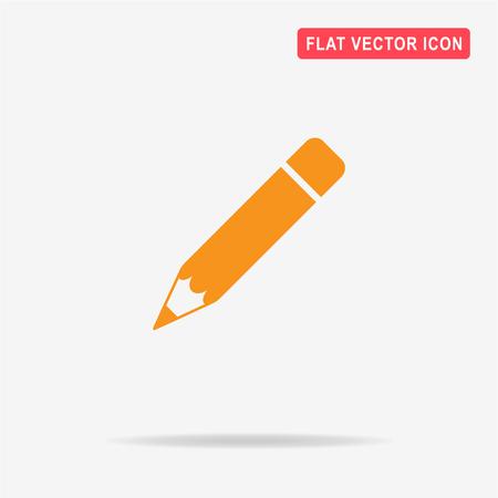 Pencil icon. Vector concept illustration for design.