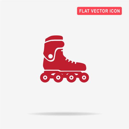 inline skate: Roller skates icon. Vector concept illustration for design.
