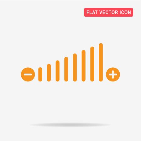 Volume icon. Vector concept illustration for design.
