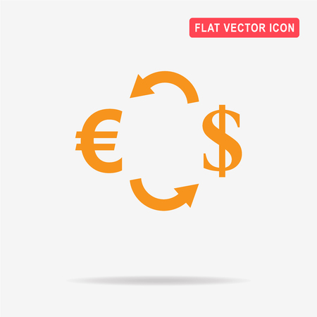 Currency exchange icon. Vector concept illustration for design. Illustration
