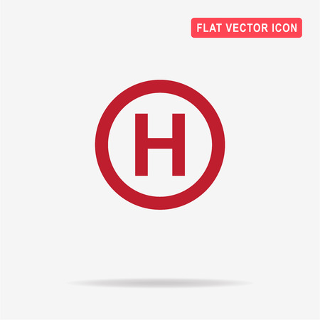 Helicopter landing pad icon. Vector concept illustration for design.