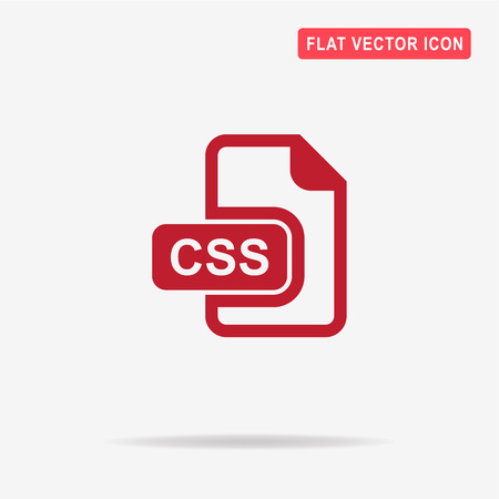 css: Css icon. Vector concept illustration for design.