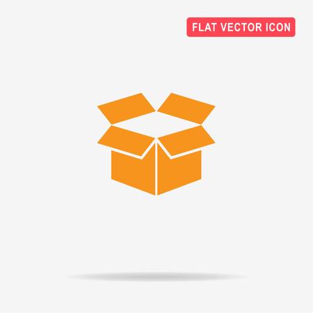 Open box icon. Vector concept illustration for design.