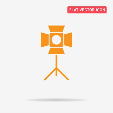 Spotlight icon. Vector concept illustration for design.