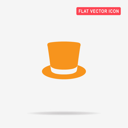 Top hat icon. Vector concept illustration for design.