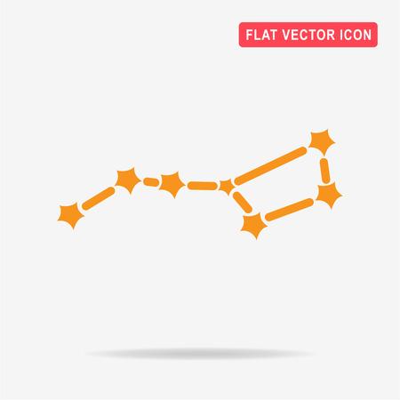 ursa: Constellation Ursa Major (Big Dipper) icon. Vector concept illustration for design. Illustration